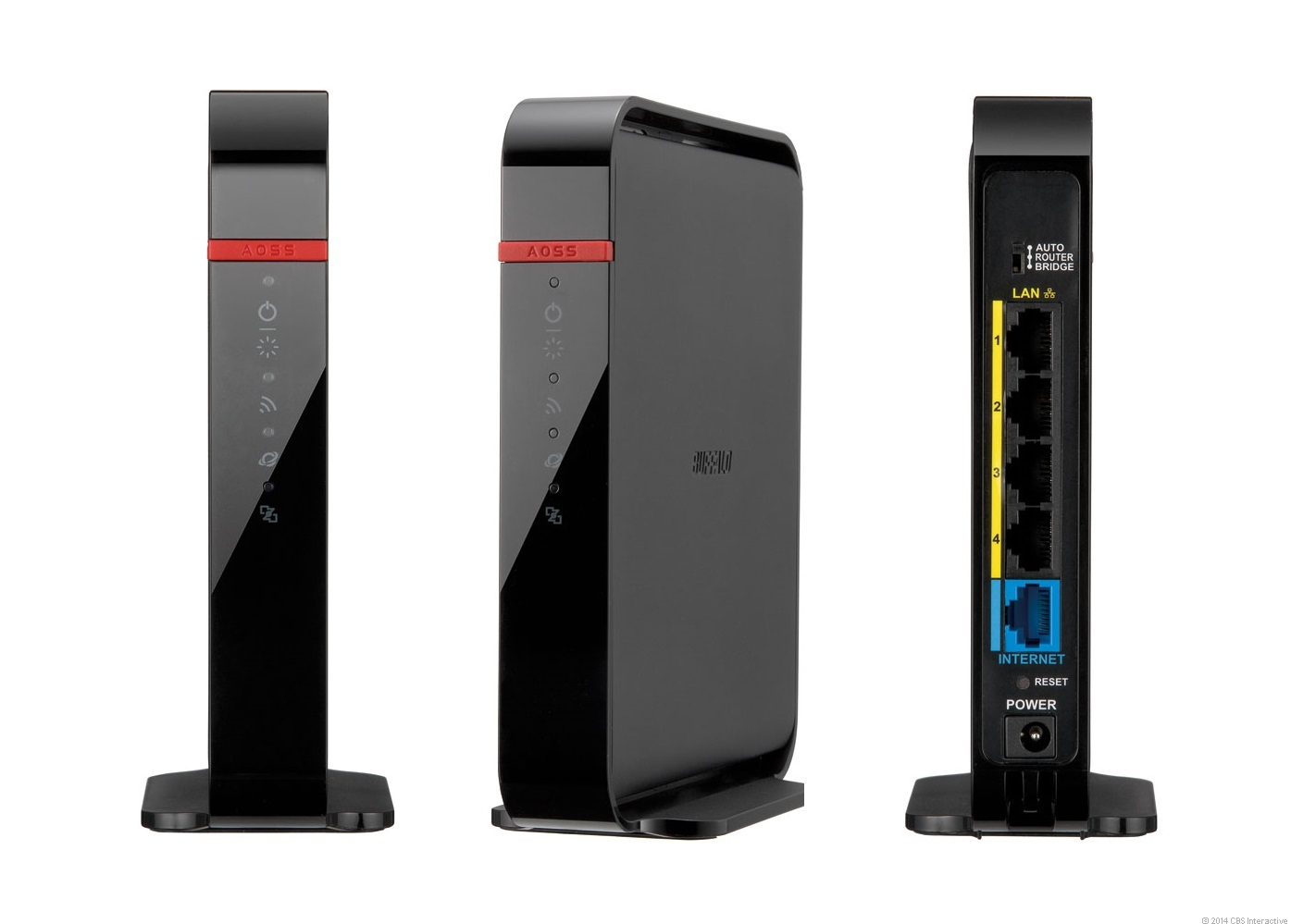 The Buffalo AirStation AC 1200 Dual Band Wireless Router (model WHR-1166D).