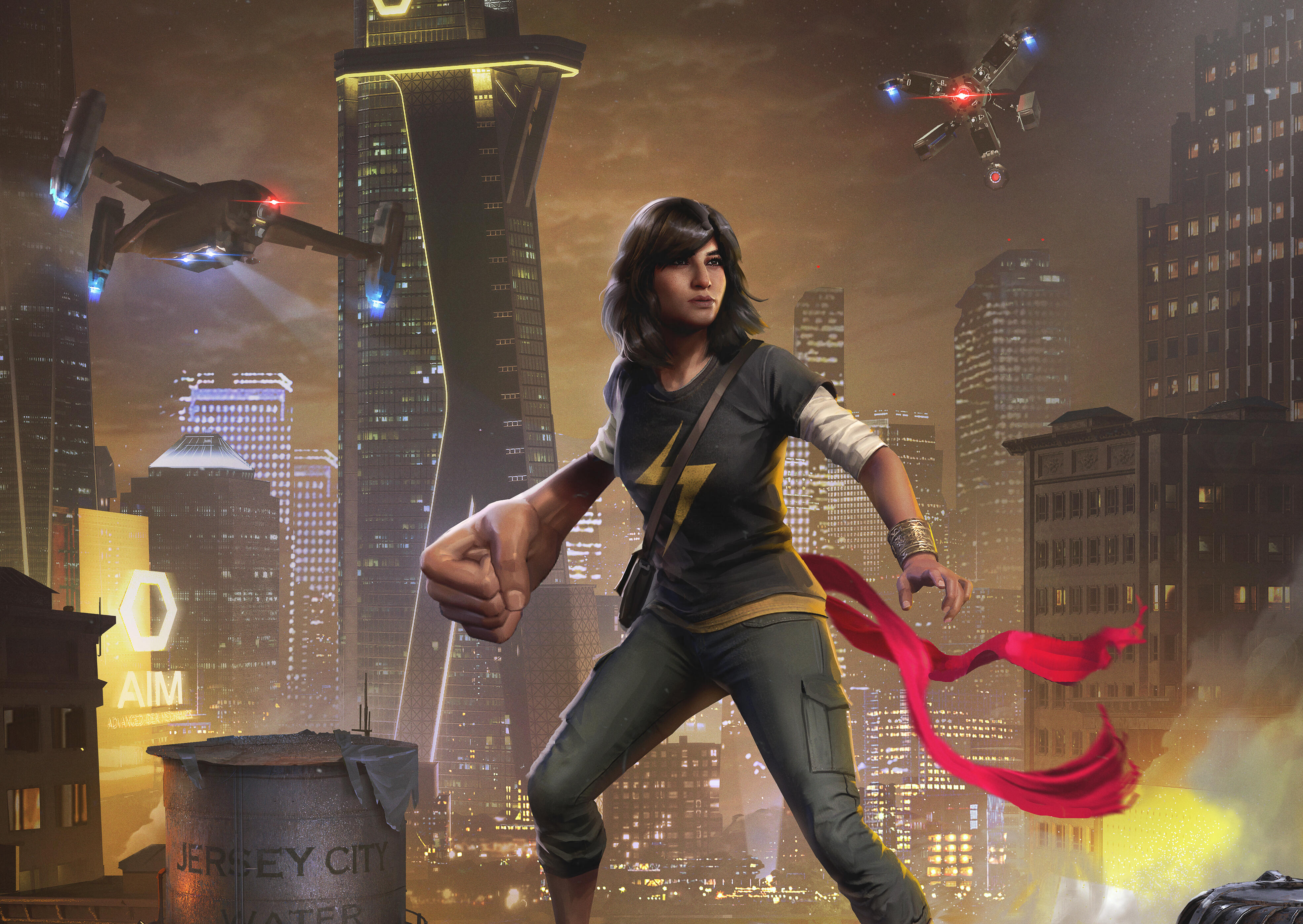 <p>Kamala Khan and Hulk battle AIM grunts in Marvel's Avengers.</p>
