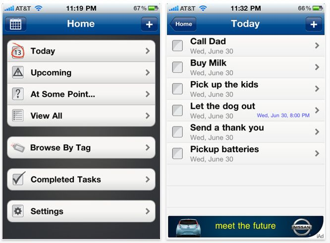 Seize your task list with the free SeizeTheDay app.