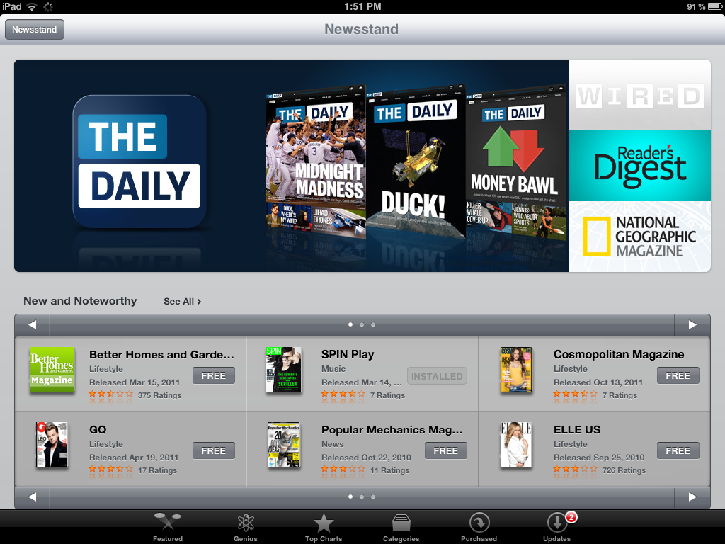 This isn't a newsstand-like experience.