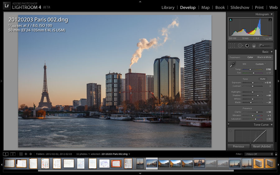 Lightroom 4 is designed for editing raw photos from higher-end cameras.