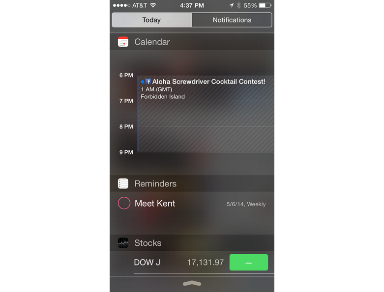 Notifications and widgets