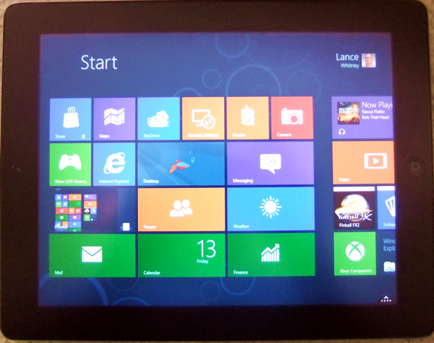 A new app lets you run Windows 8 on your iPad from your PC.