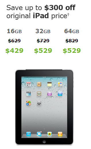 AT&T is selling original iPads with 3G at a deeper discount than Apple.