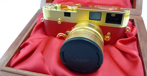 Gold-plated Leica