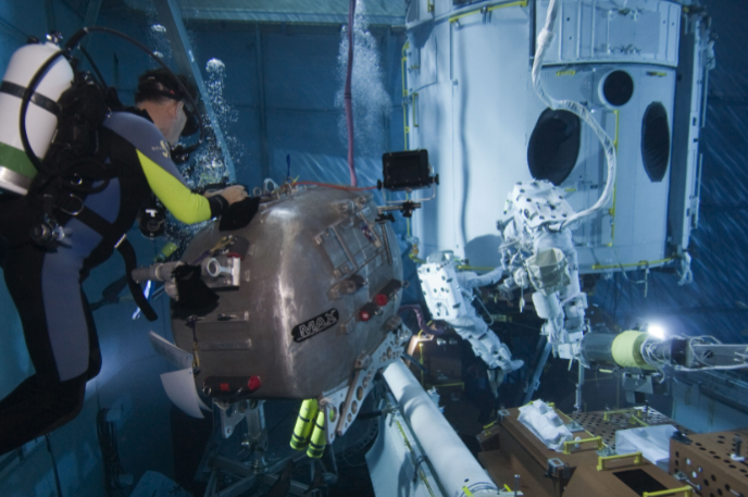 Hubble preparation in neutral buoyancy lab