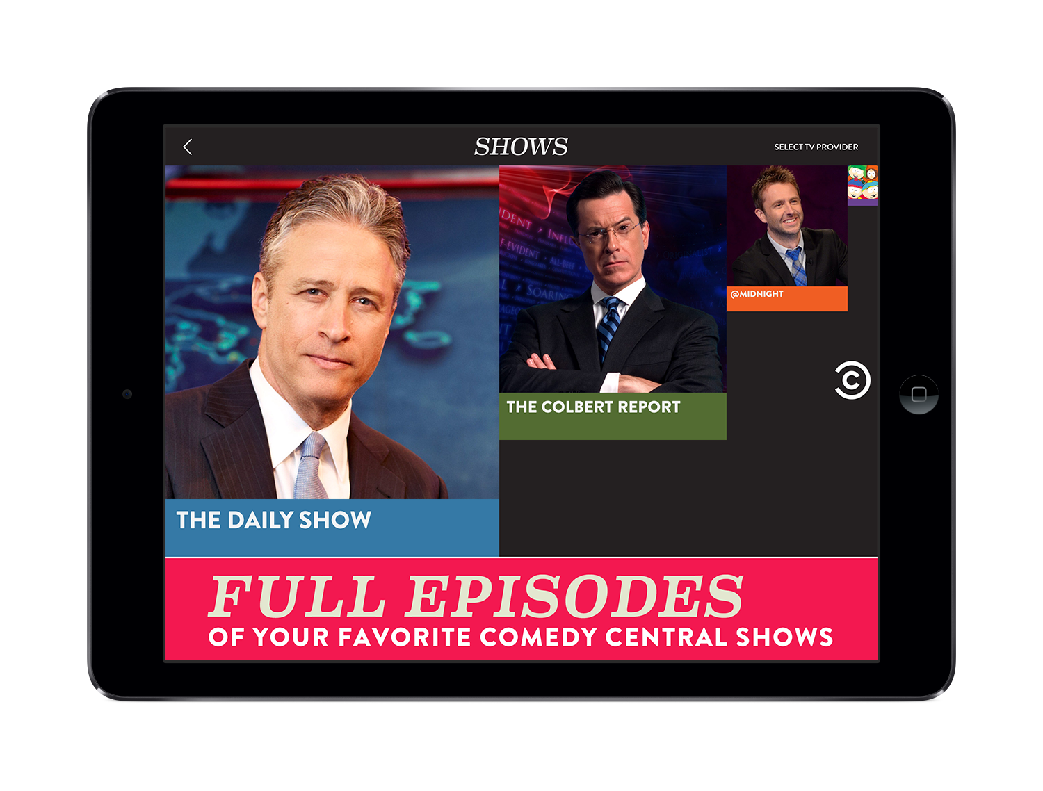 Comedy Central's app launches on April Fool's Day (appropriately) with more than 200 full-episode programs