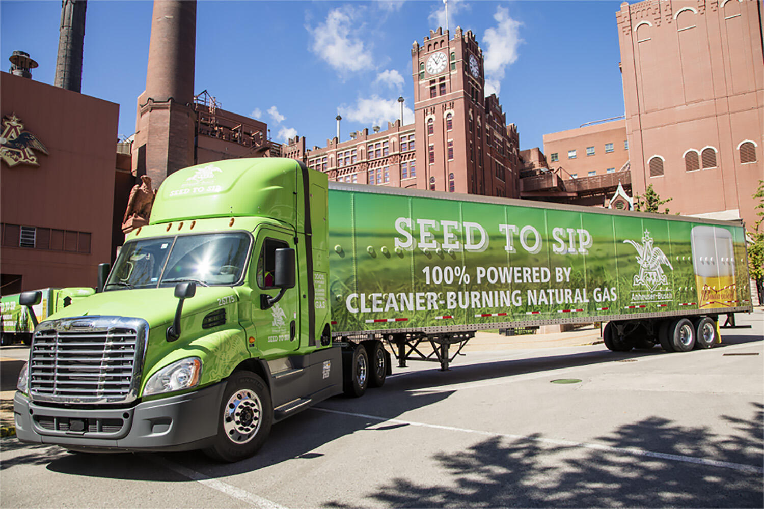 Budweiser semi powered by renewable natural gas