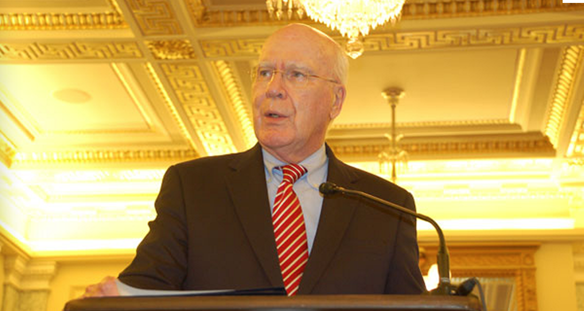 """Sen. Patrick Leahy previously said his bill boosts Americans' e-mail privacy protections by """"requiring that the government obtain a search warrant."""" That's no longer the case."""