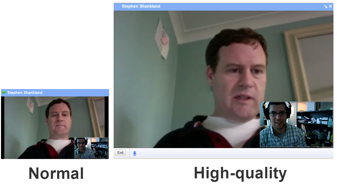 Video chat in Gmail.