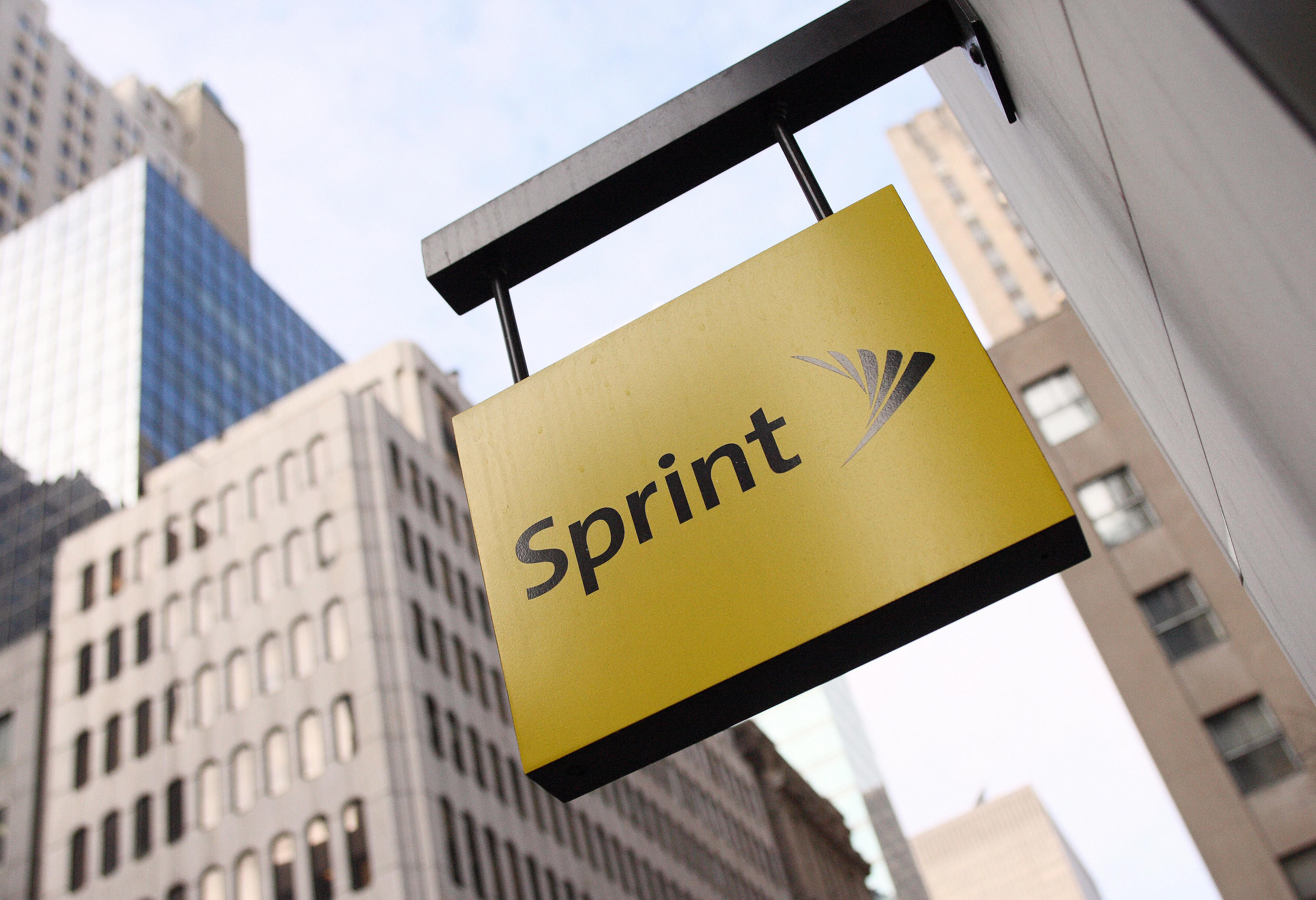Sprint sign outside the company's Fifth Avenue store in New York.