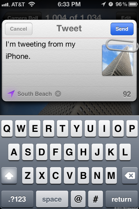 iOS 5 comes with Twitter integration.