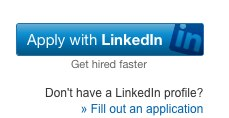 """The new """"Apply to LinkedIn"""" button Netflix."""