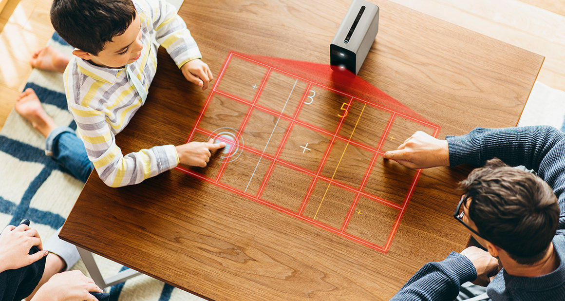 The Xperia Touch projector uses an infrared sensor to turn many surfaces into a virtual touch screen, but EyeSight's technology will let you control it from far away.