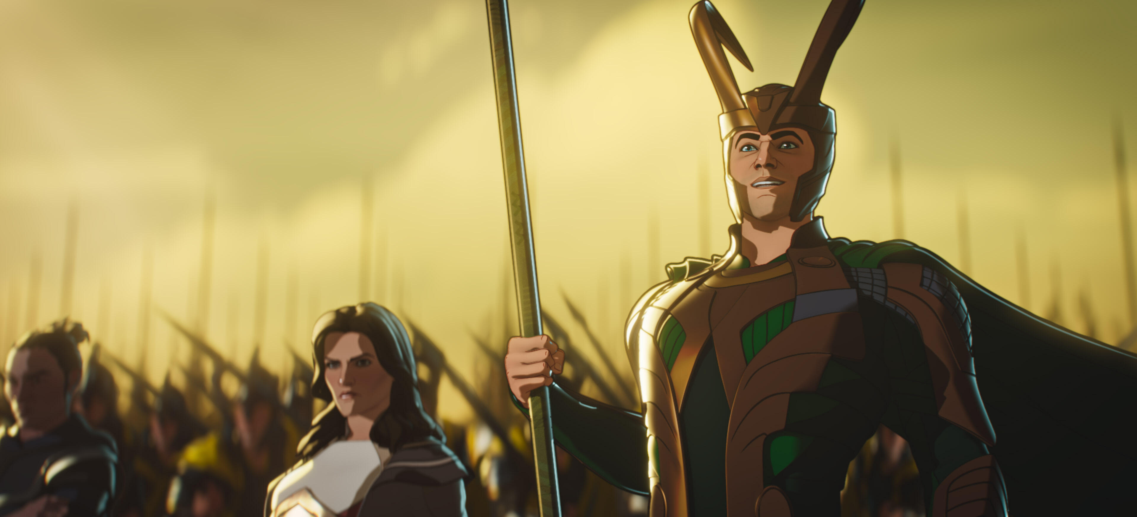 Loki and Sif in Marvel's What If...?
