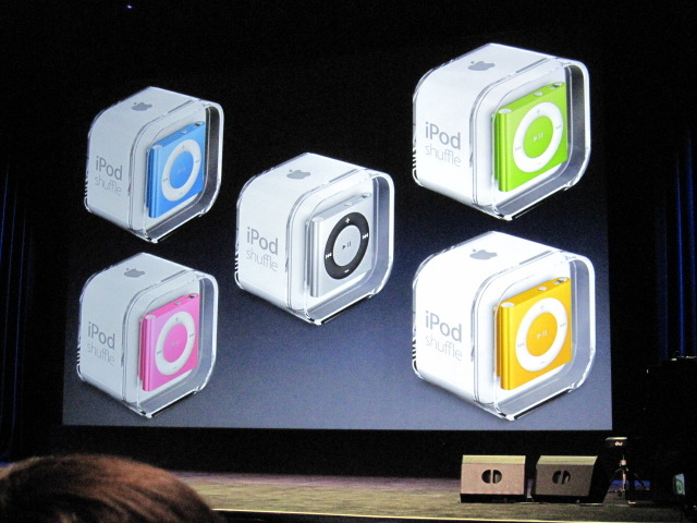 New iPod Shuffle comes in five colors.