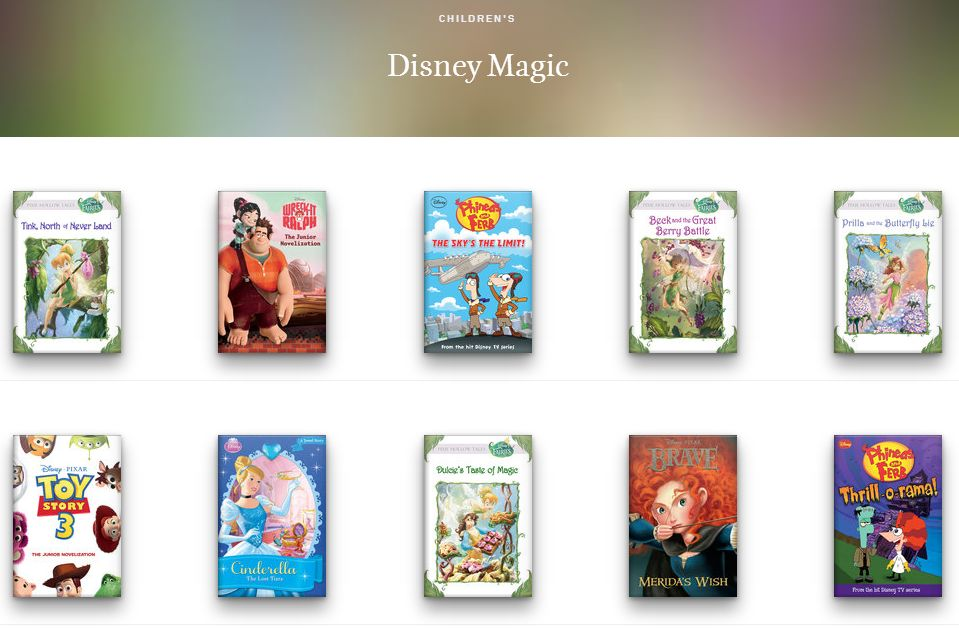 Oyster's growing library of all-you-can-eat e-books now includes Disney titles and others for kids.