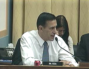 "Rep. Darrell Issa said it was unseemly for Republicans to follow Nancy Pelosi's lead by saying, on SOPA, that ""we have to pass the bill so that you can find out what is in it."""