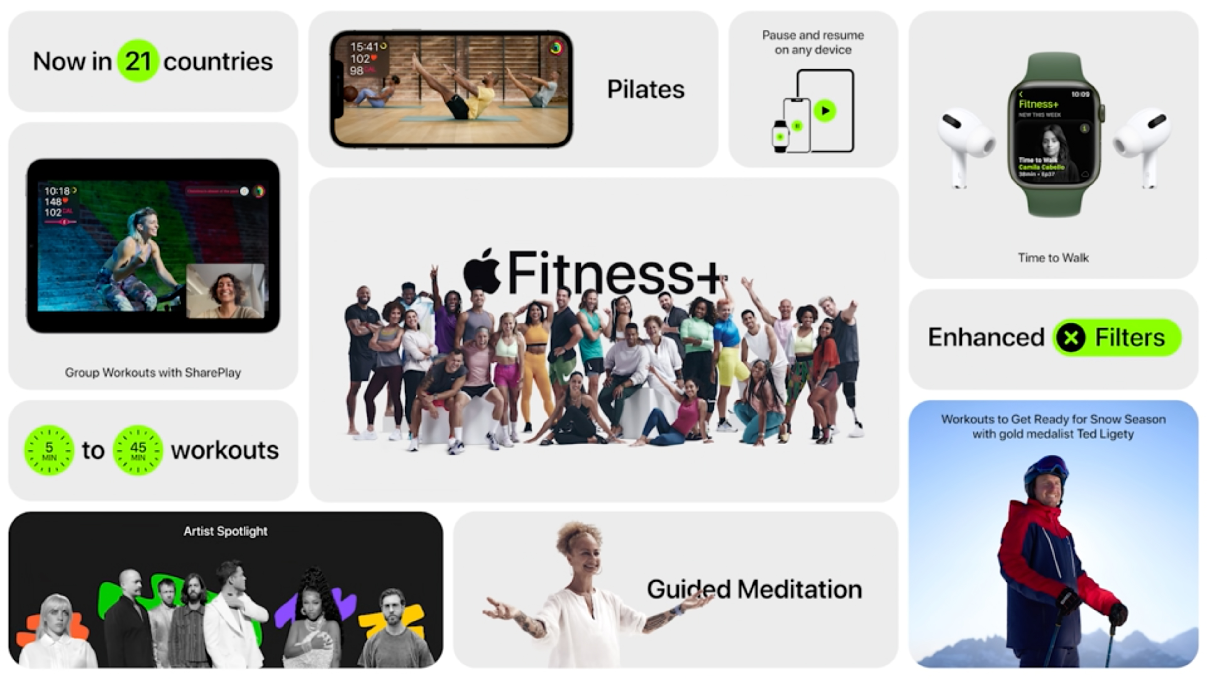 Apple Event Fitness Plus workouts