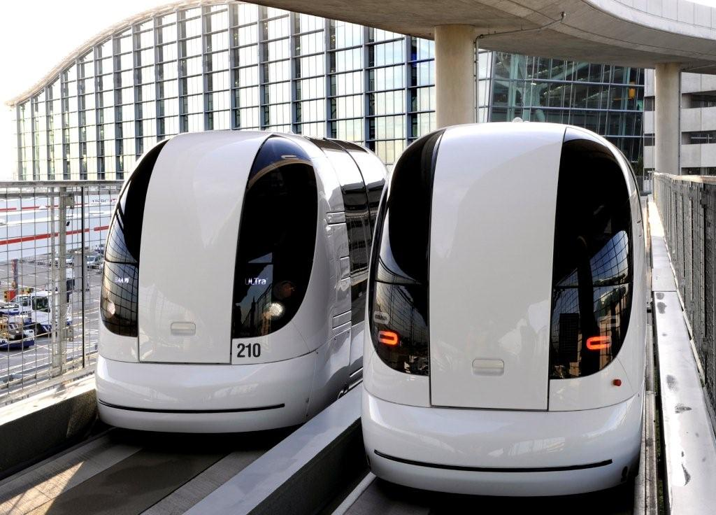 Two electric cars at Heathrow Airport