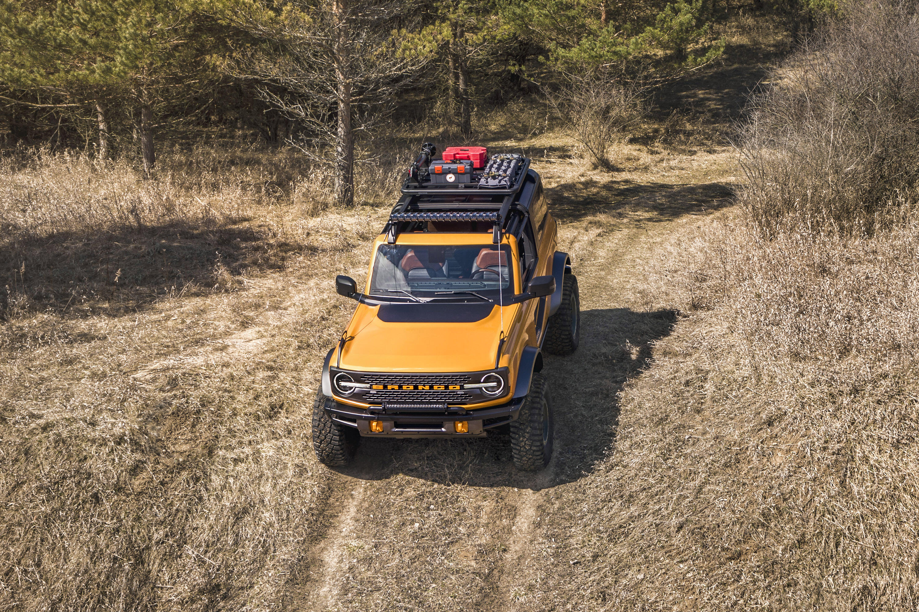 2021 Ford Bronco 2-Door on the trail