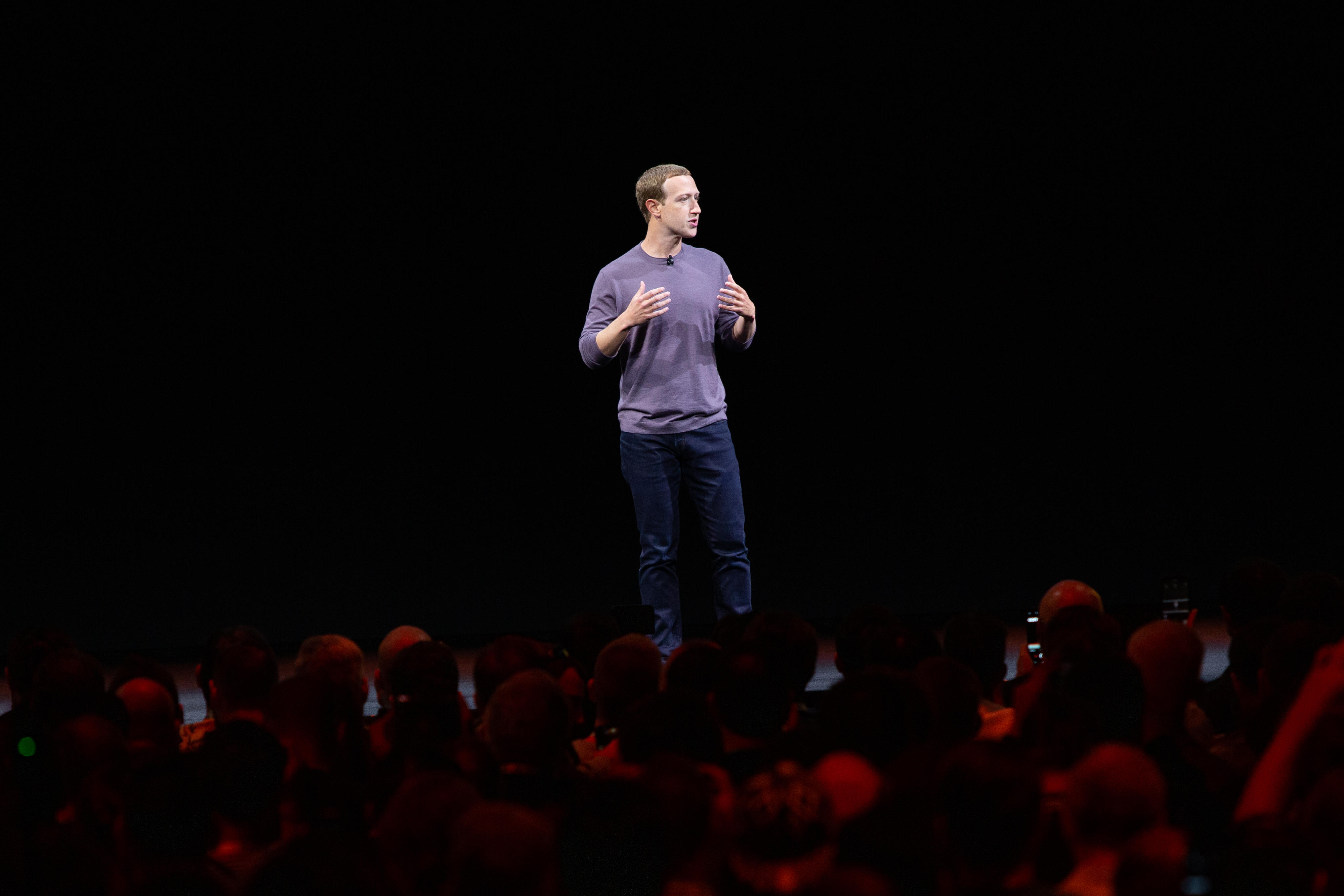 Mark Zuckerberg on stage at Oculus Connect 2019