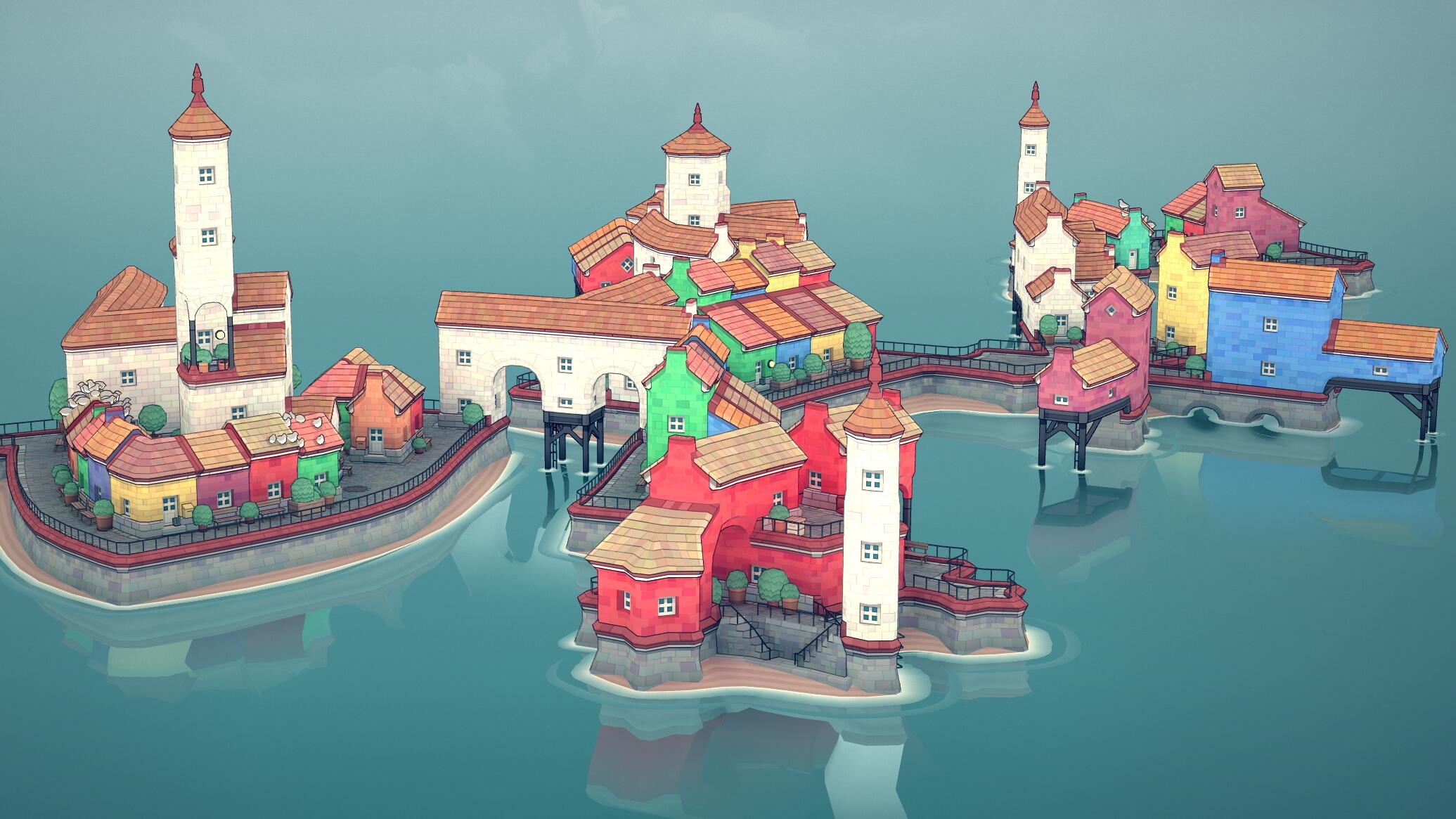 A game for our times: Townscaper - CNET