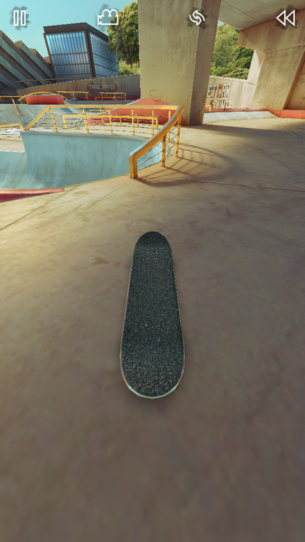 Grind the rail over the bowl