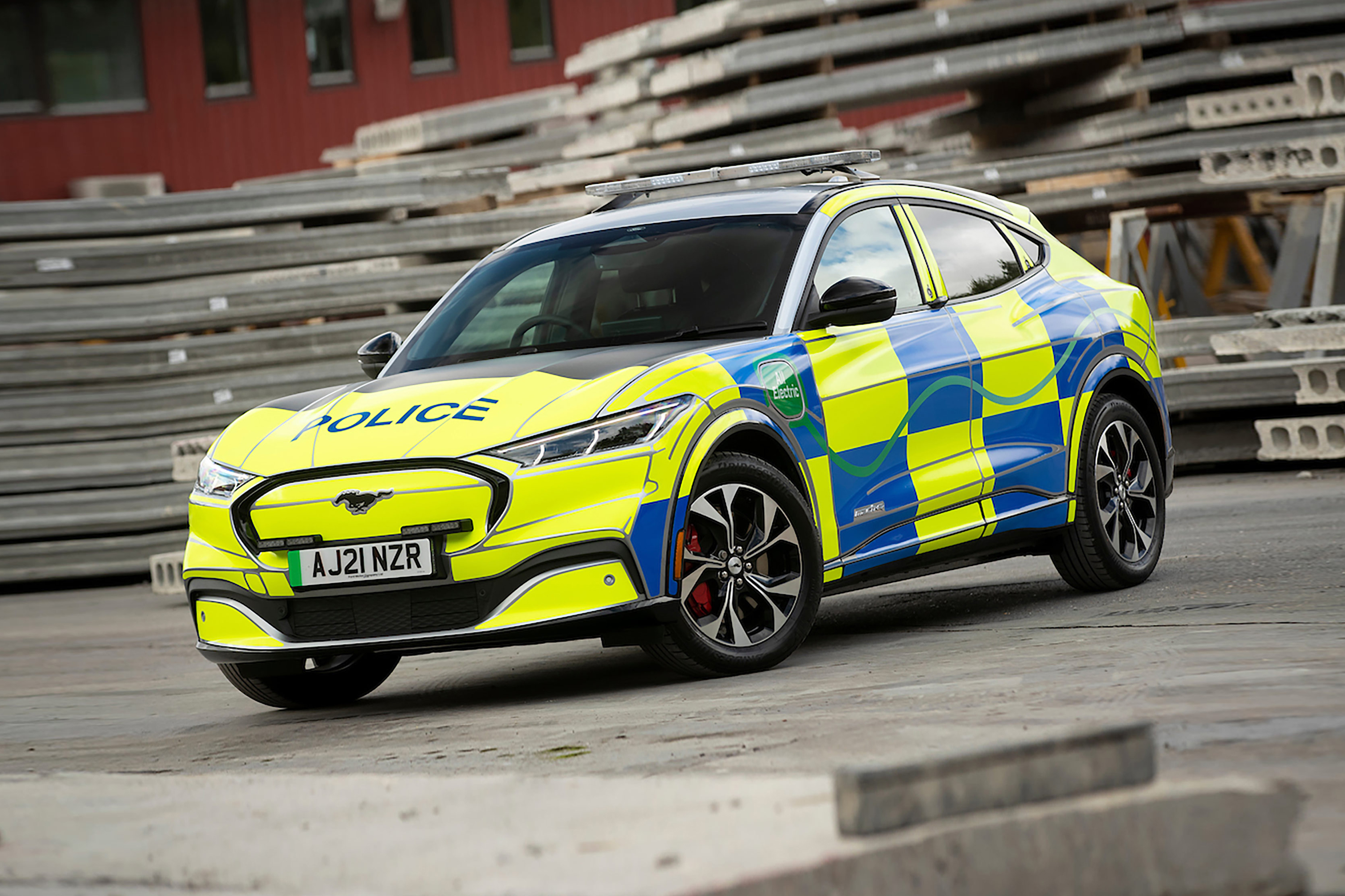 Ford Mustang Mach-E UK Police Car Concept - front