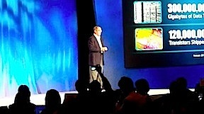 Intel CEO Paul Otellini speaking at the Intel Capital Global Summit.  Touch-based ultrabooks are major focus in 2012.