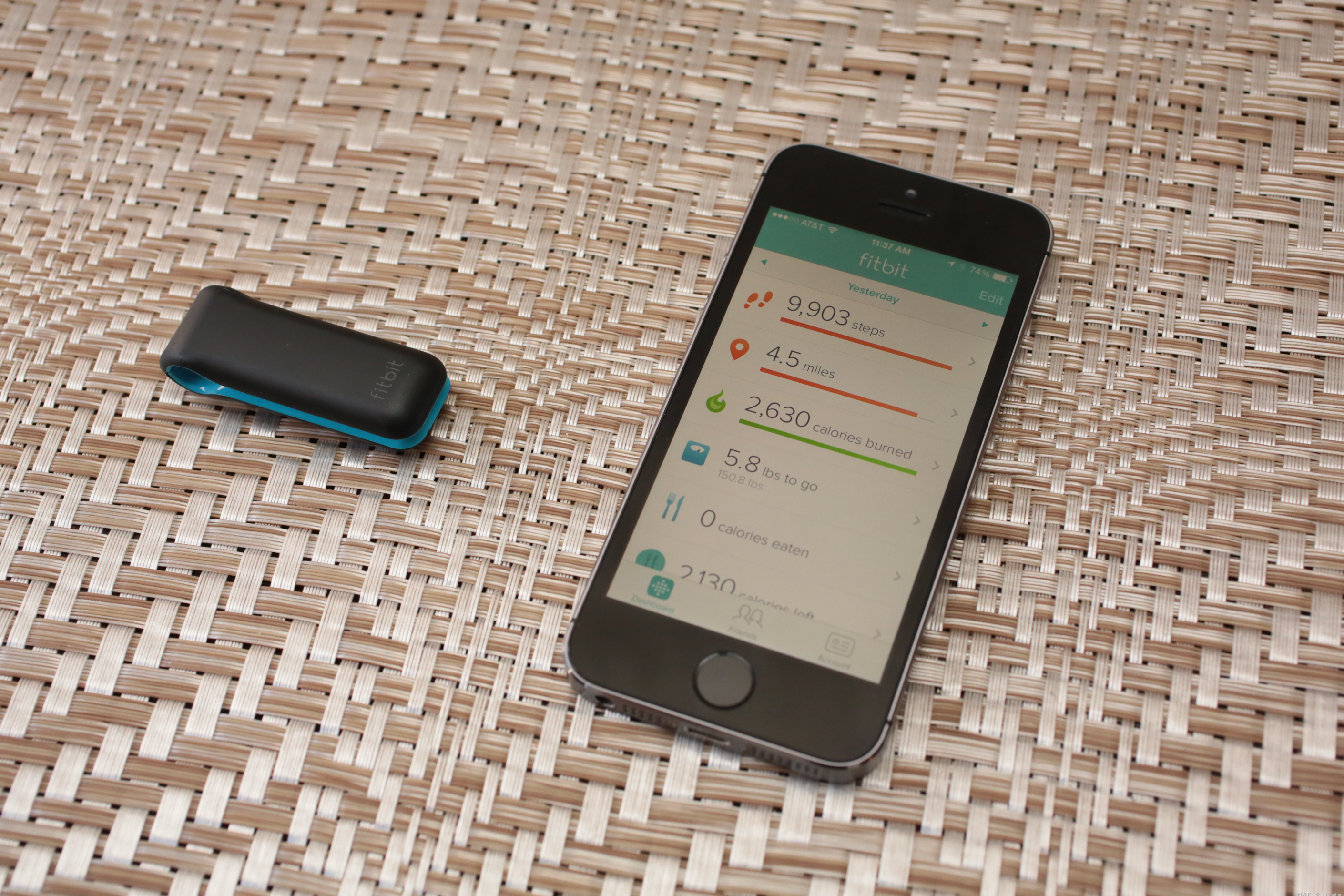 Fitbit Ultra and iPhone 5S