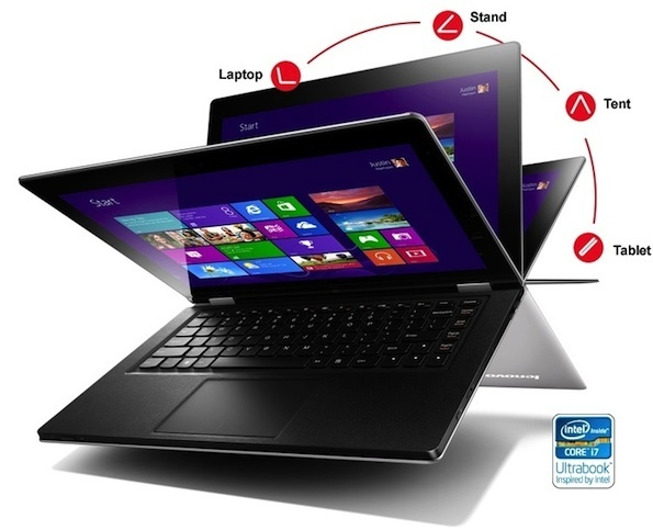 Lenovo IdeaPad Yoga 13 hybrid won't be cheap at $1,099 -- though the Yoga 13 does use a high-performance Intel processor not a lower-end Atom chip like many Windows 8 tablets and hybrid devices.  And boasts a high-resolution 1,600x900-pixel-resolution IPS display and a 256GB solid-state drive.