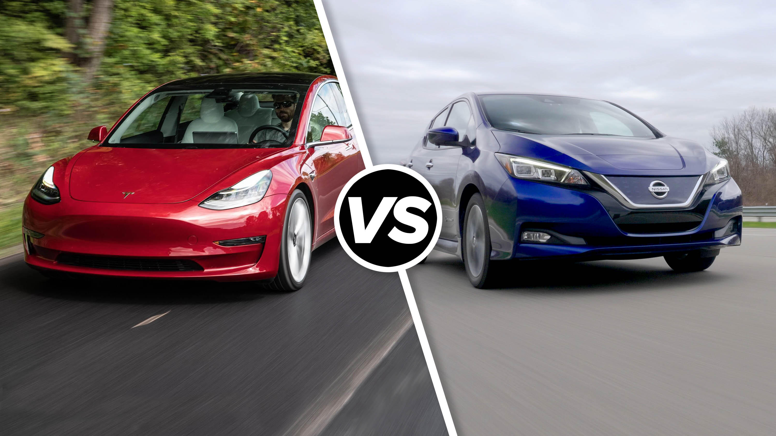 Video: Tesla Model 3 vs. Nissan Leaf: EVs do battle