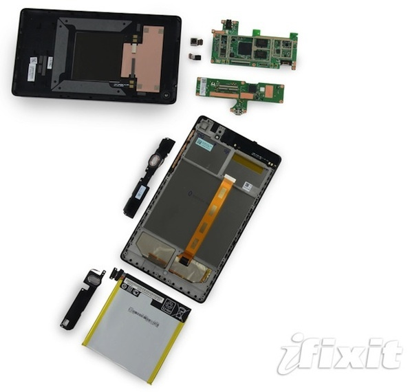 The 2013 Nexus 7 gets a good repairability score from iFixit.