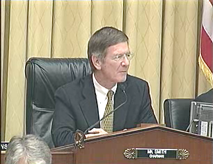 "Rep. Lamar Smith, who says the ""problem of rogue websites is real, immediate and widespread"""