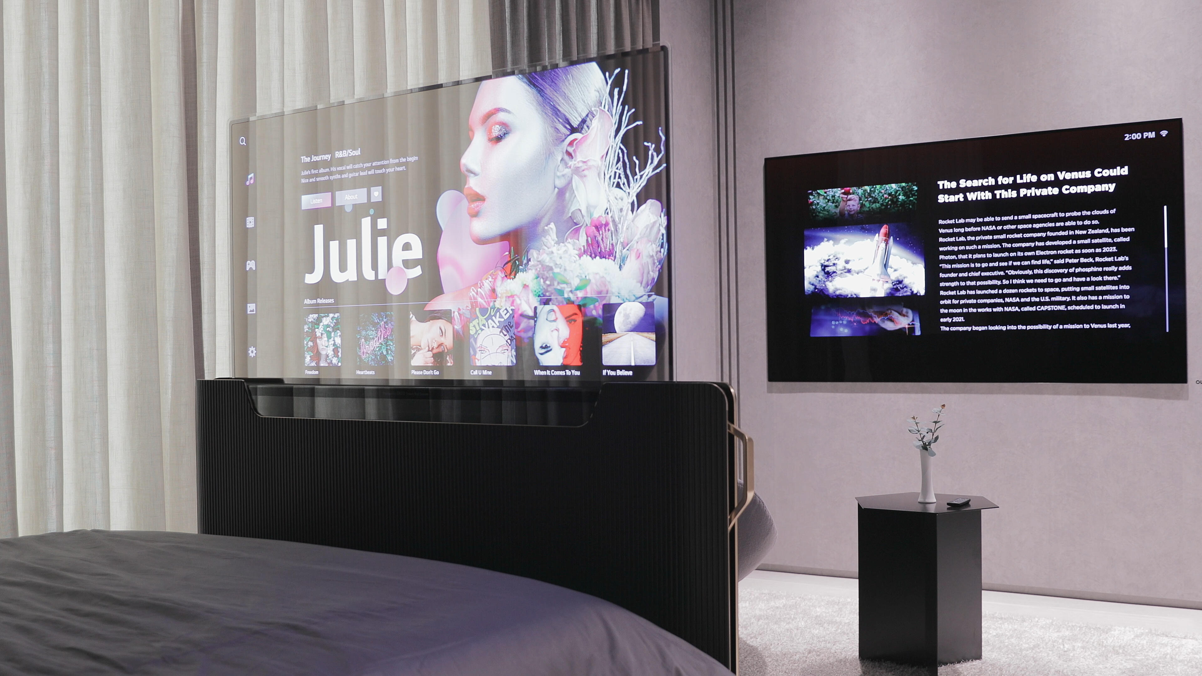 Video: Crazy transparent OLED concept TVs come to sushi bars, subway cars and bed