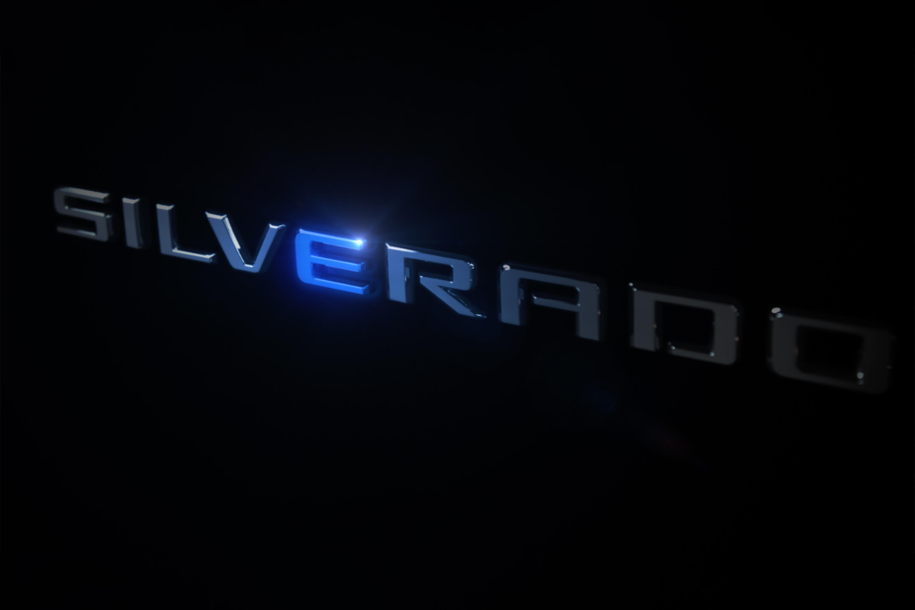 Electric Chevy Silverado teaser