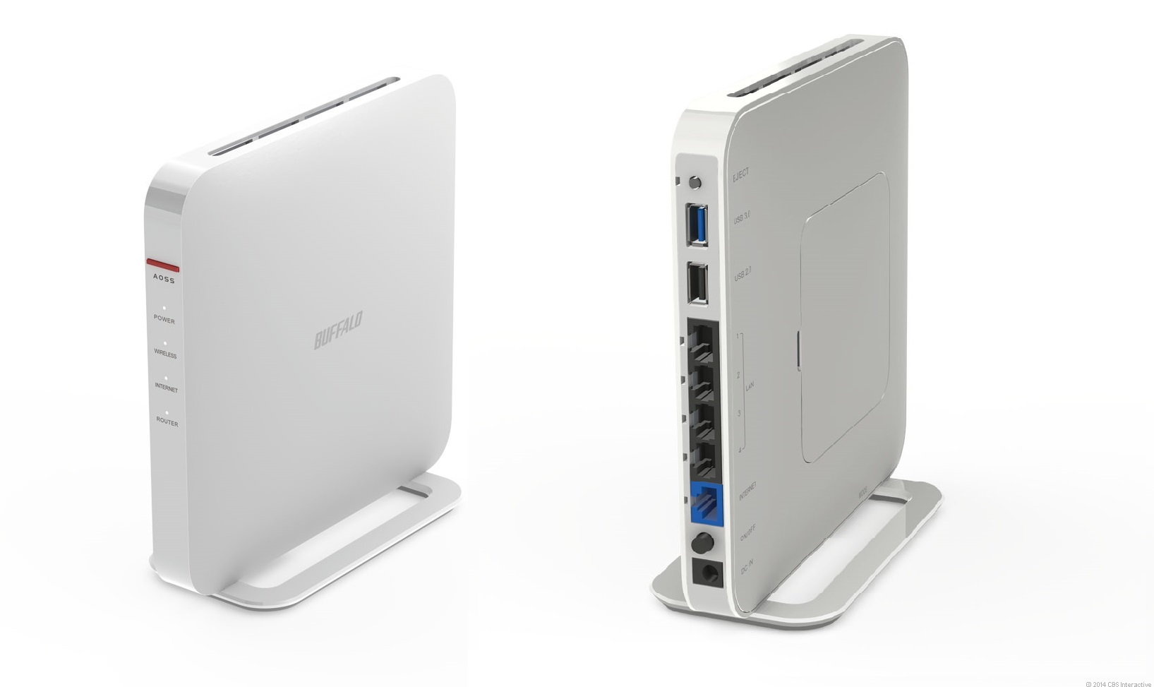 The top-tier AirStation Extreme AC 1900 Gigabit Dual Band Wireless Router (model WXR-1900DHP).