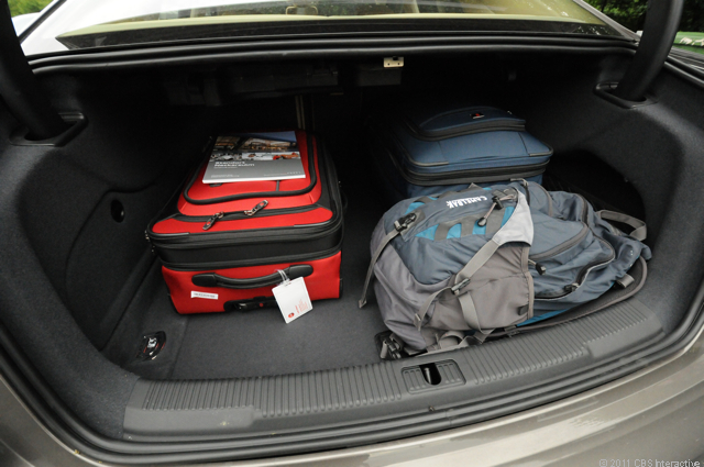 Trunk with suitcases