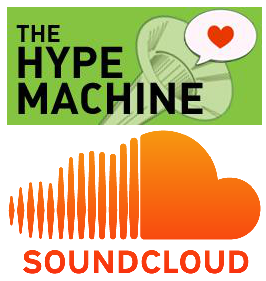 Image of Hype Machine and SoundCloud logos.