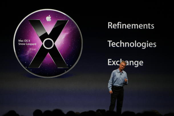 Apple's Bertrand Serlet touts Mac OS X at the company's Worldwide Developer Conference.