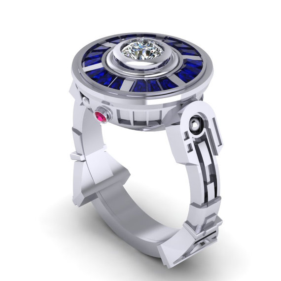 Your love will say 'I do' to the R2-D2 ring.