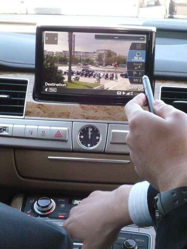 The 2011 Audi A8 demo-equipped with 4G infrastructure from Alcatel-Lucent will better support Google Earth navigation and other internet applications.