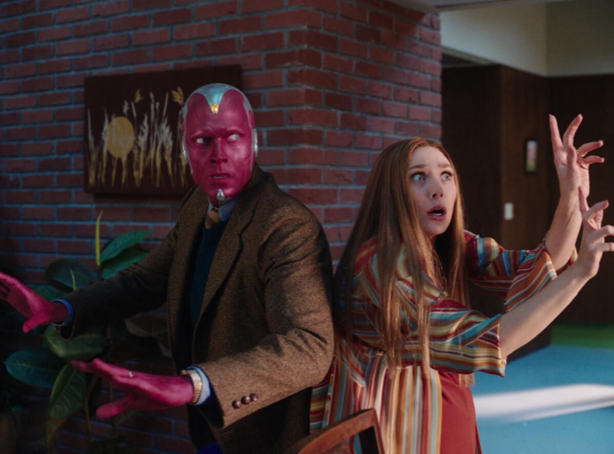 <p>Wanda and Vision get bewitched on Disney Plus.</p>