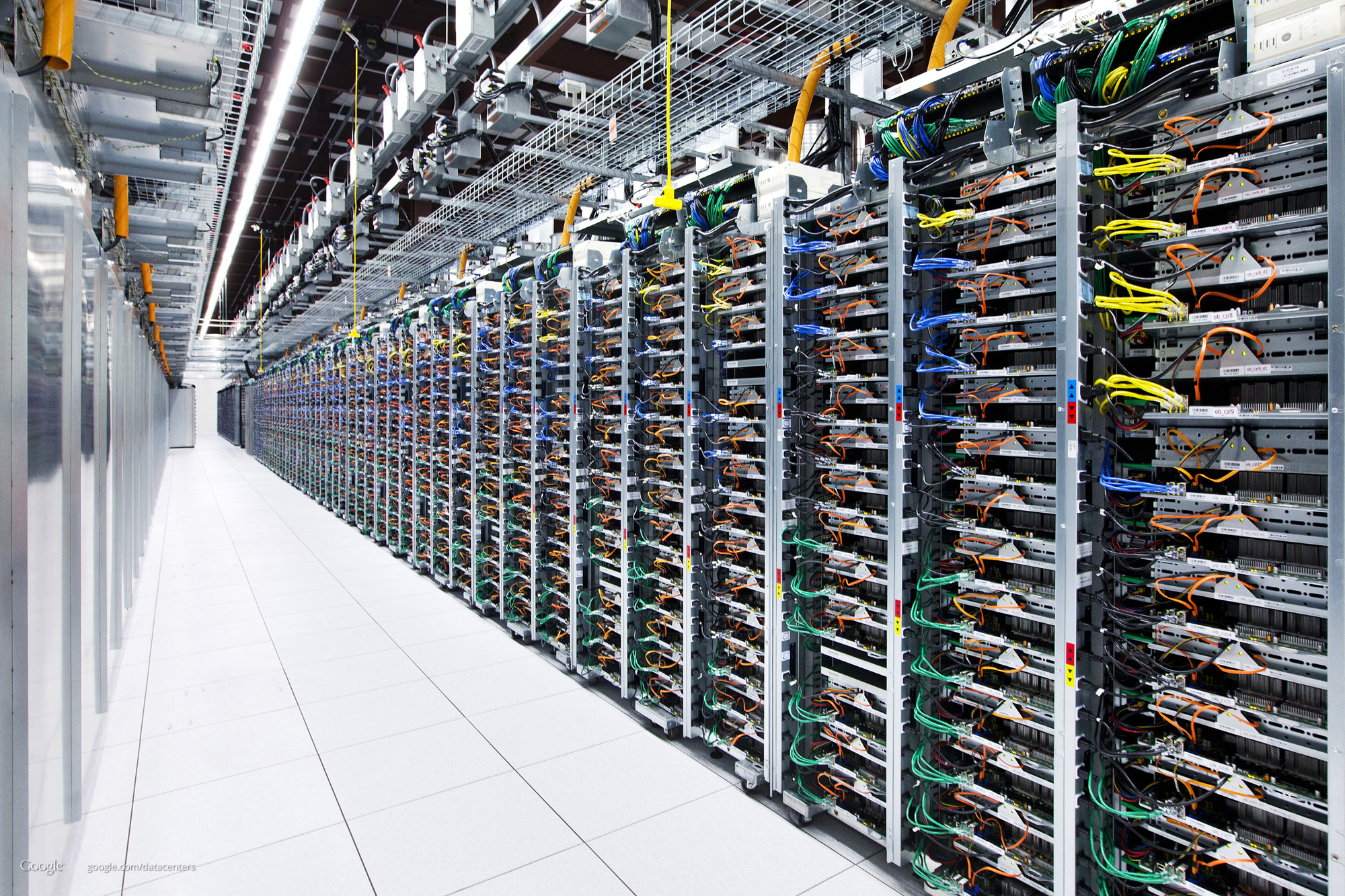 One of Google's massive data centers. The company supports e-mail encryption whenever it can.