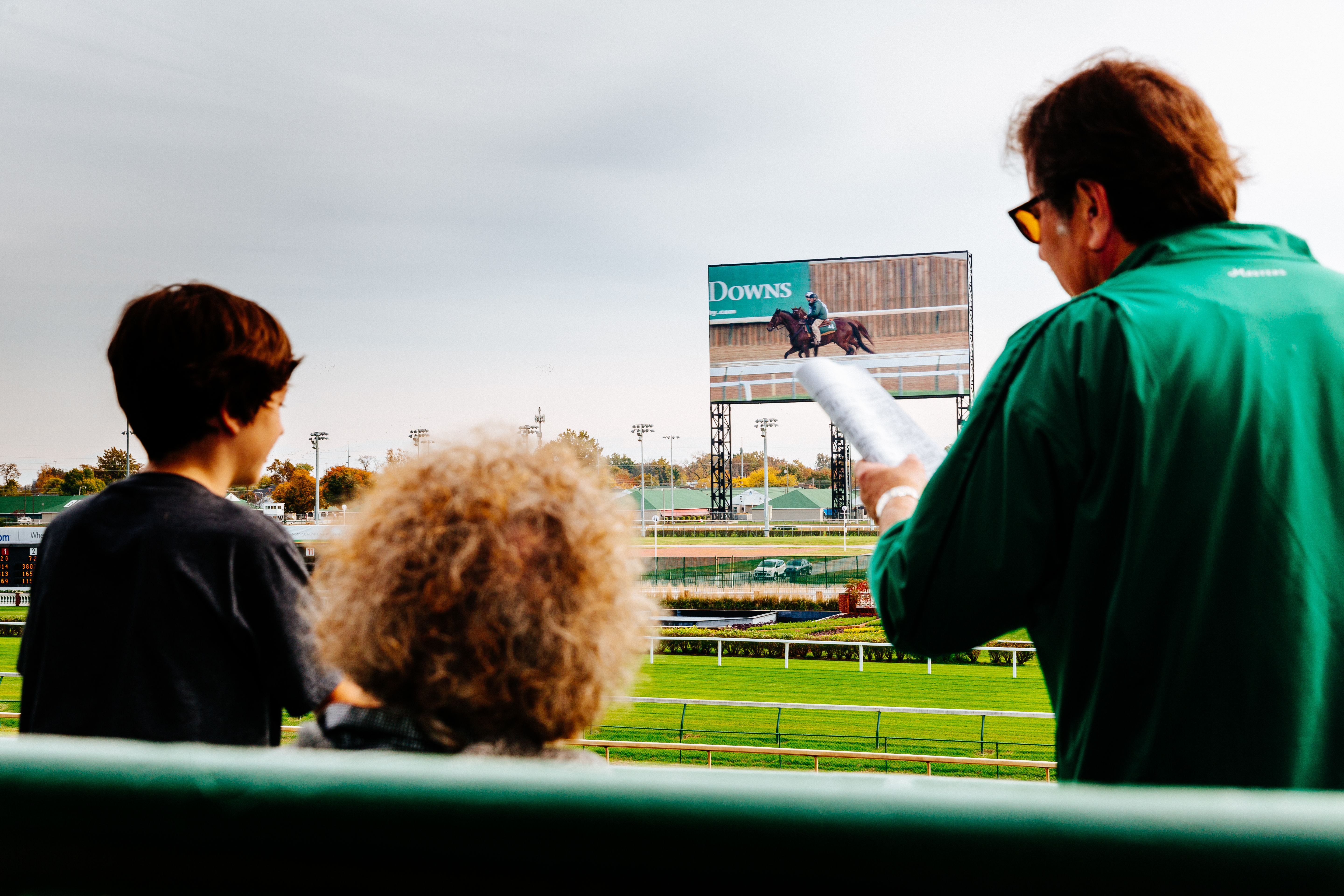 Larger than three NBA courts put together, Churchill Downs' Big Board is one of the biggest high-def video screens in sports.