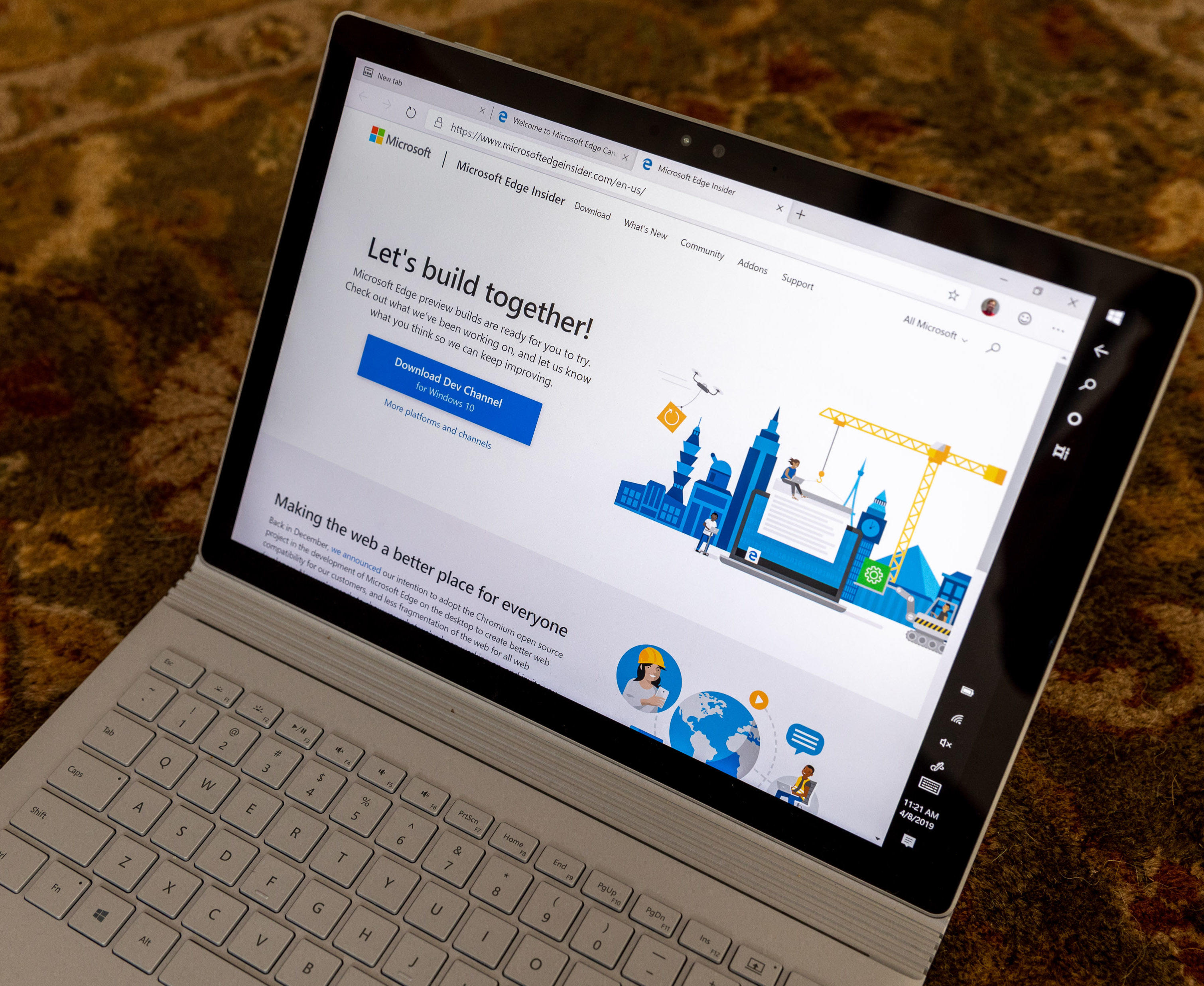 Microsoft's Edge browser is built on Chromium, the open-source underpinnings of Google's Chrome.