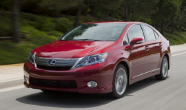 """Lexus HS 250h is heralded (by them) as a """"luxury economy"""" car.  How very our times!"""