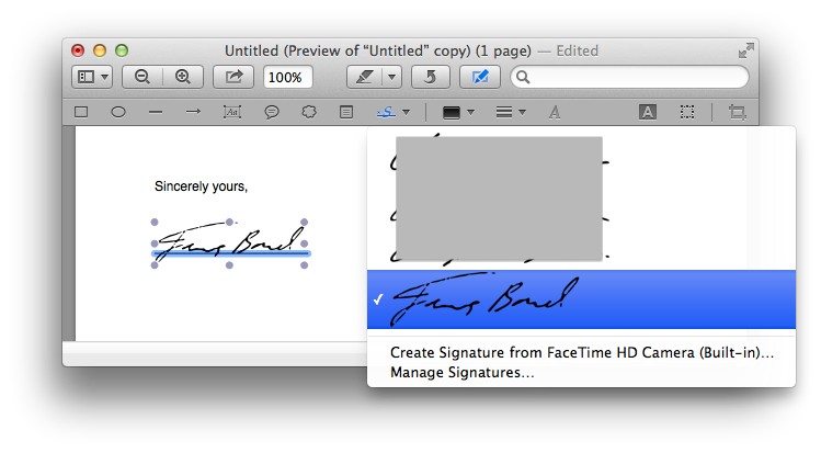 Signatures applied to non-PDF documents