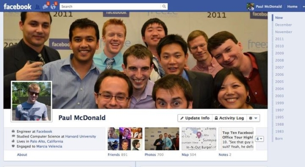 Facebook' new Timeline feature, like it or not.